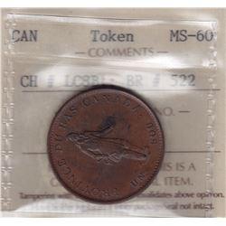 Br 522. Quebec Bank Halfpenny, 1837.