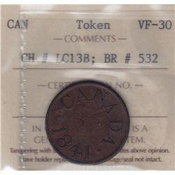 "Br 532. Duncan's ""Canada"" Halfpenny, 1841."