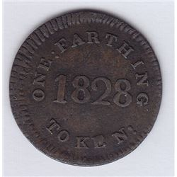 Br 563a. So-called Mullins farthing, 1828.