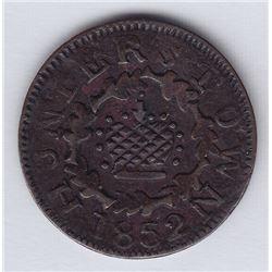 Br 567. Rare Hunterstown token, 1852.