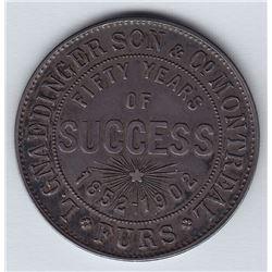 Br 574. Louis Ganedinger Son & Co. Moosehead token, 1902.