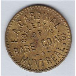 Br 578.  E. A. Cardinal's Numismatist Card