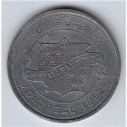 Br 606. P. O. Tremblay's Numismatist Card, 1892.