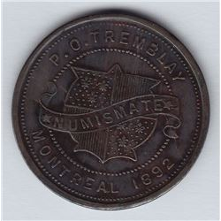 Br 607. P. O. Tremblay's Numismatist Card, 1892.