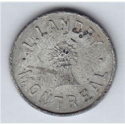 Br 611. L. Landry's token for 1 Pain.