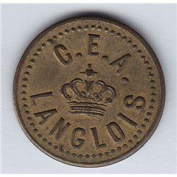 Br 616. C. E. A. Langlois' token