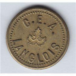 Br 617. C. E. A. Langlois' token