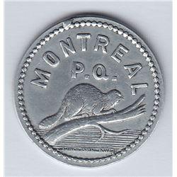 Br 623. V(ital) R(aparie) Saloon token, 1893.