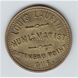 Br 630. Louis Laurin's Numismatist Card.