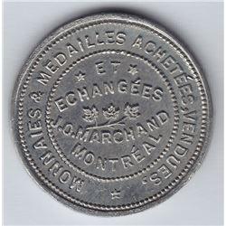 Br 637. J. O. Marchand's Numismatist Card, 1893.