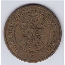Br 642. Ludger Gravel's Balmoral Token, 1892.