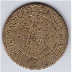 Br 644. Ludger Gravel's Balmoral Token, 1892.