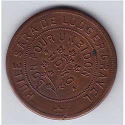 Br 646. Ludger Gravel's Balmoral Token, 1892.