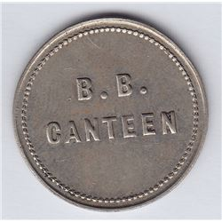 Br 649. B. Battery Canteen Token, Quebec.