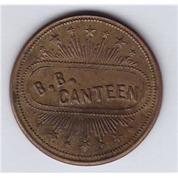 Br 650. B. Battery Canteen Token, Quebec.