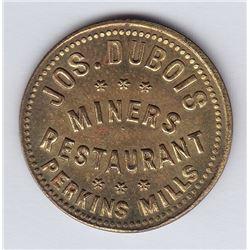 Br 653. Jos. Dubois' Token, Perkins Mills, 1891.