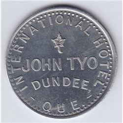 Br 656. John Tyo's International Hotel Token, Dundee.