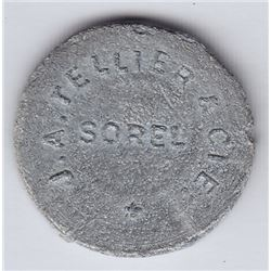 Br 661. J. A. Tellier & Cie. Advertising Token, Sorel