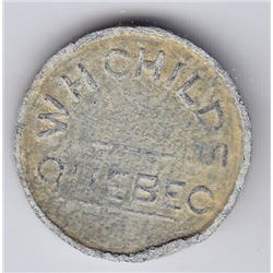 Br 668. W. H. Childs' Token, Quebec. ½ Pain Blanc.