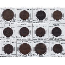 Province of Canada Bank of Montreal countermarks - Lot of 12