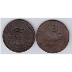 N.C countermarks - Lot of 2