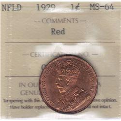 1929 Newfoundland One Cent