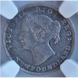 1888 Newfoundland Five Cents