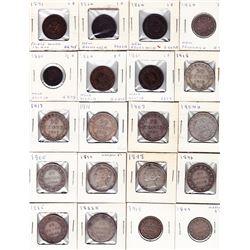 Newfoundland & Provincial Coins - Lot of 66