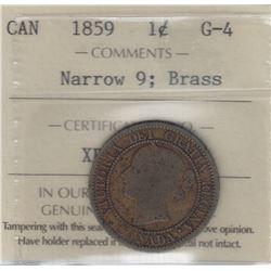 1859 Brass One Cent