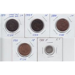 Canadian Coins - Lot of 5