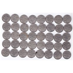 1926 Near 6 Five Cents - Roll of 40 Coins