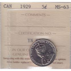 1929 Five Cents