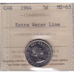 1964 Five Cents