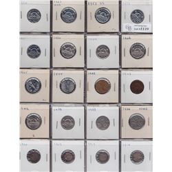 Lot of 39 Five Cents
