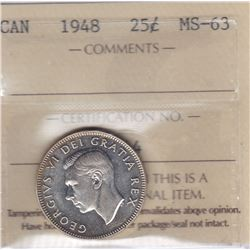 1948 Twenty Five Cents