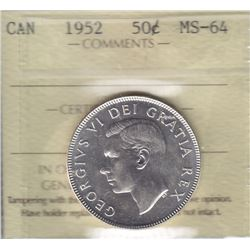 1952 Fifty Cents