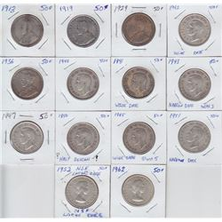 Fifty Cents - Lot of 14