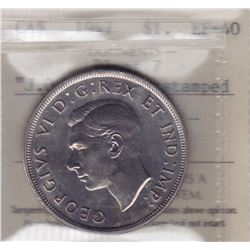 1947 Blunt 7 Silver Dollar J.O.P. Counterstamped