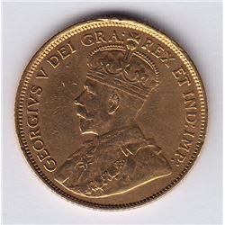 1913 Gold Five Dollars
