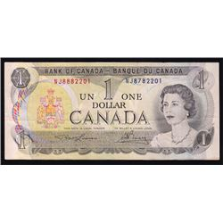 1973 Bank of Canada Mismatched Serial Number $1