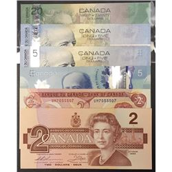 Bank of Canada Radar Notes - Lot of 6