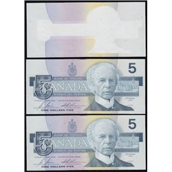 1986 Bank of Canada $5 Printing Error