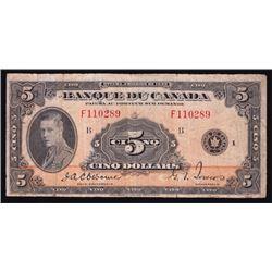 1935 Banque du Canada $5