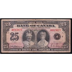 1935 Bank of Canada $25