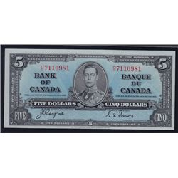 1937 Bank of Canada $5