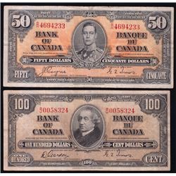 1937 Bank of Canada Notes - Lot of 2