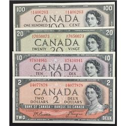Bank of Canada Devil's Face Notes - Lot of 4