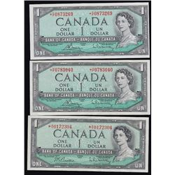 Bank of Canada $1 Bank Notes - Lot of 3