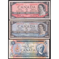Bank of Canada Replacement Notes - Lot of 3