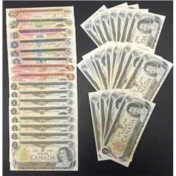 Bank of Canada Multicolour Notes - Lot of 44